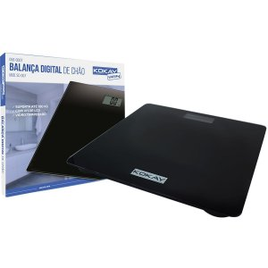 Balanca Eletronica Digital Kokay Ate 180Kg Preta Santana Centro