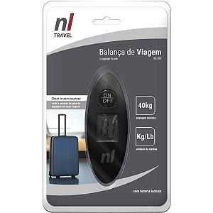 Balanca Eletronica Para Viagem  Ate 40Kg. Lcd Newex