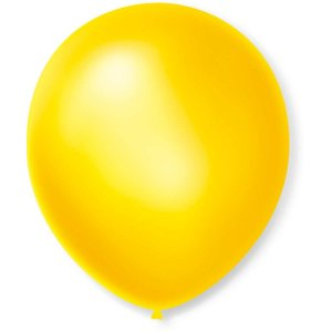Balão Cintilante N.070 Amarelo São Roque