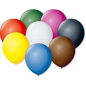 Balão Cintilante N.070 Cores Sortidas São Roque