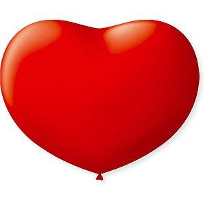 Balão Coração 11Pol. Vermelho Quente São Roque