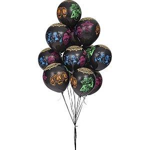 Balão Decorado N.010 Caveira Mexicana Sortida Riberball