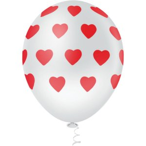 Balão Decorado N.010 Coração Big Bco C/vm Riberball