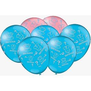 Balão Decorado N.09 Cha Revelacao Festcolor