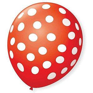 Balão Decorado N.090 Bolinha Vm Quente C/bco São Roque