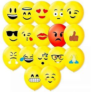 Balão Decorado N.090 Emoções Modelos Sort. São Roque