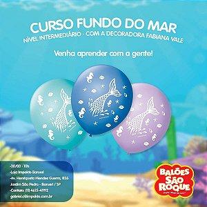 Balão Decorado N.090 Fundo Do Mar São Roque
