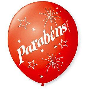 Balão Decorado N.090 Parabéns 7Cores Sort. São Roque