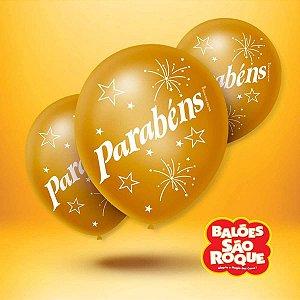Balão Decorado N.090 Parabéns Cintilante 5Cor São Roque