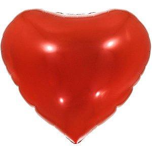Balão Metalizado Coração Vermelho 90Cm. Make+