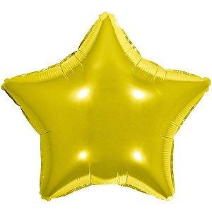 Balão Metalizado Estrela Dourado 45Cm. Make+