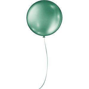 Balão Metalizado N.05 Redondo Verde São Roque