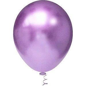 Balão Para Decoração Redondo N.010 Platino Violeta Riberball