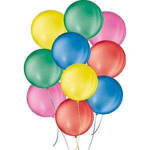 Balão Para Decoração Redondo N.05 Sortido São Roque