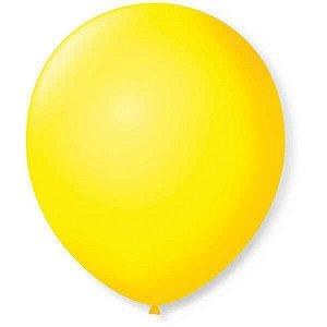 Balão Para Decoração Redondo N.09 Amarelo Citrino São Roque