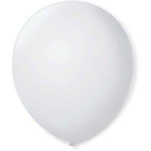Balão Para Decoração Redondo N.09 Branco Polar São Roque