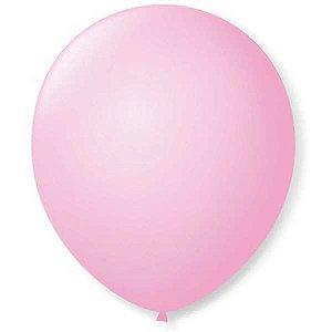 Balão Para Decoração Redondo N.09 Rosa Baby São Roque
