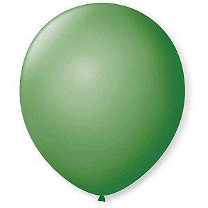 Balão Para Decoração Redondo N.09 Verde Bandeira São Roque