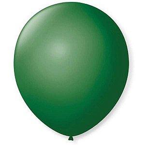 Balão Para Decoração Redondo N.09 Verde Folha São Roque