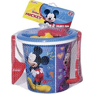 Baldinho De Praia Mickey Mouse C/Acessórios Baby Brink