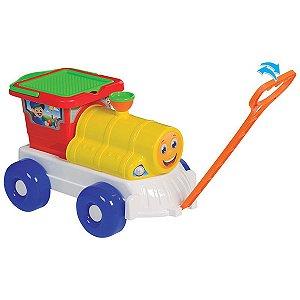 Baldinho De Praia Trem P/ Praia C/ Acessórios Merco Toys