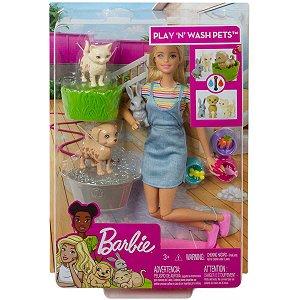 Barbie Family Brincar E Lavar Pets Mattel