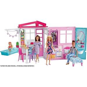 Barbie Real Casa Glam Com Boneca Mattel