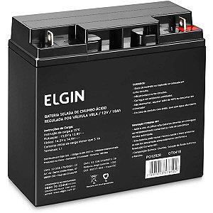 Bateria Selada 12V Vrla 18Ah Elgin