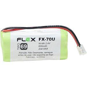 Bateria Telefone S/ Fio 2.4V 600Mah Plug Univer Flex