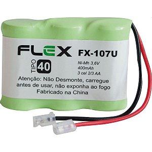Bateria Telefone S/ Fio 3.6V 400Mah Plug Univer Flex