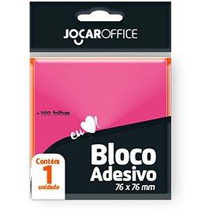 Bloco De Recado Autoadesivo Jocar Rosa 76X76 100Fls. Leonora