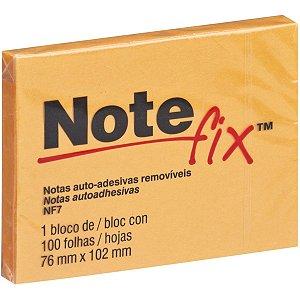 Bloco De Recado Autoadesivo Notefix 100F.76Mmx102Mm Laranj 3M