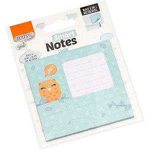 Bloco De Recado Autoadesivo Smart Notes Coruja 3 Em 1 30Fl Brw