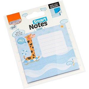 Bloco De Recado Autoadesivo Smart Notes Girafa 3 Em 1 30Fl Brw