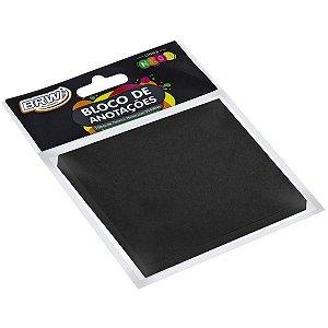 Bloco De Recado Autoadesivo Smart Notes Preto 76X76 50Fl. Brw