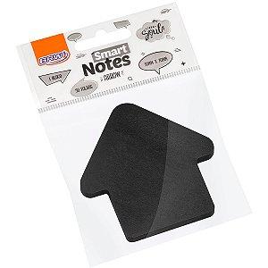 Bloco De Recado Autoadesivo Smart Notes Preto Seta 50Fl. Brw