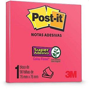 Bloco De Recado Post-It 76X76Mm Poppy 90Fls. 3M