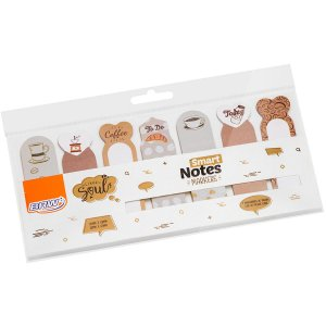 Bloco Marcador Pagina Adesivo Smart Notes Markers Cafe 20Fl. Brw