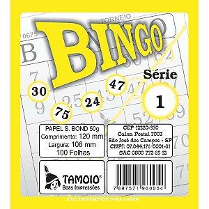 Bloco Para Bingo Amarelo 120X108Mm 100 Folhas Tamoio