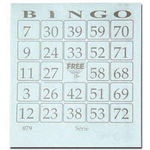 Bloco Para Bingo Azul 110X100Mm 100 Folhas Grafica Guerra