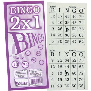Bloco Para Bingo Jornal Bingao 2 X1 100 Folhas Tamoio