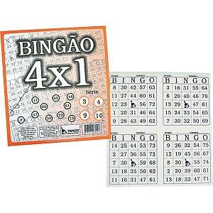 Bloco Para Bingo Jornal Bingao 4 X1 100 Folhas Tamoio
