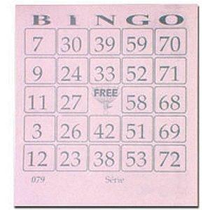 Bloco Para Bingo Rosa 110X100Mm 100 Folhas Grafica Guerra