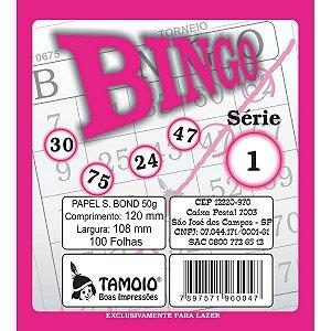 Bloco Para Bingo Rosa 120X108Mm 100 Folhas Tamoio