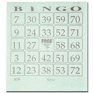 Bloco Para Bingo Verde 110X100Mm 100 Folhas Grafica Guerra