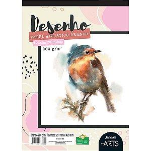 Bloco Para Educação Artística Arts Desenho A3 200G. 20Fls. Jandaia