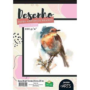 Bloco Para Educação Artística Arts Desenho A4 200G. 20Fls. Jandaia
