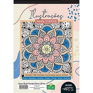 Bloco Para Educação Artística Arts Ilustração A4 180G. 28Fls Jandaia