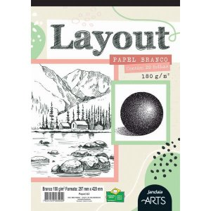 Bloco Para Educação Artística Arts Layout A3 180G 20Fls. Jandaia