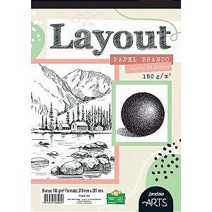 Bloco Para Educação Artística Arts Layout A4 180G. 20Fls. Jandaia